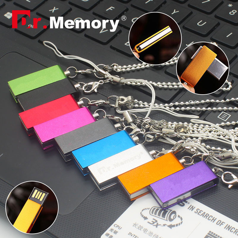 New Fashion mini usb memory stick 4/8/16/32/64gb usb flash drive tiny metal necklace u disk pendrive usb 2.0 pen drive for gift(China (Mainland))