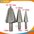3PCS 16 30 5 5 20 3 14mm Umbrella Chamfer Drill Step Drill Bit Steel PV
