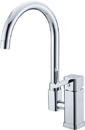 Free Shipping NEW Modern Single handle  Kitchen Mixing Tap Sink Faucet  Swivel Chrome 02081  [5 years quality assurance]