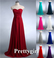 ZJ0039 wine red mint green coral hunter jade colored chiffon strapless prom party dresses new fashion