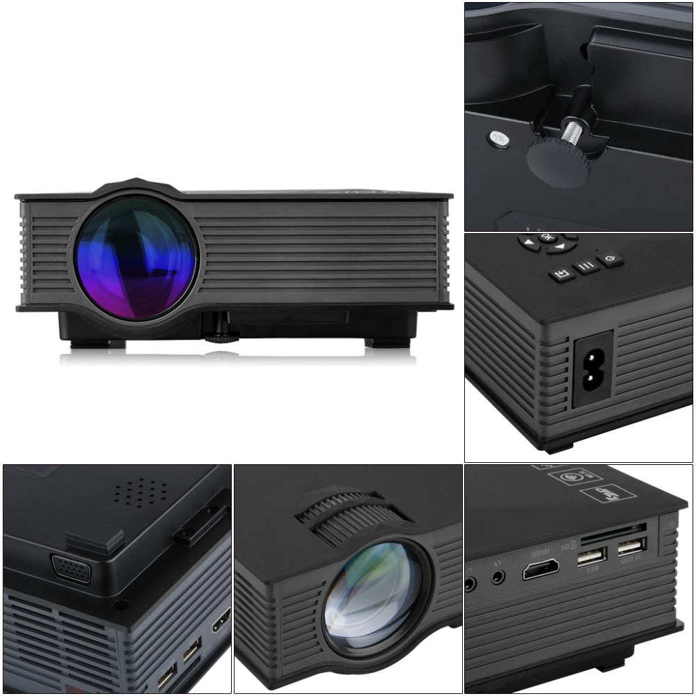 unic uc46 mini portable projector full hd 1080p support