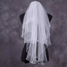Cheap Multi-Layer Short Wedding Bridal Veils With Comb 2016 Wedding Accessories velos de novia voile mariage(China (Mainland))
