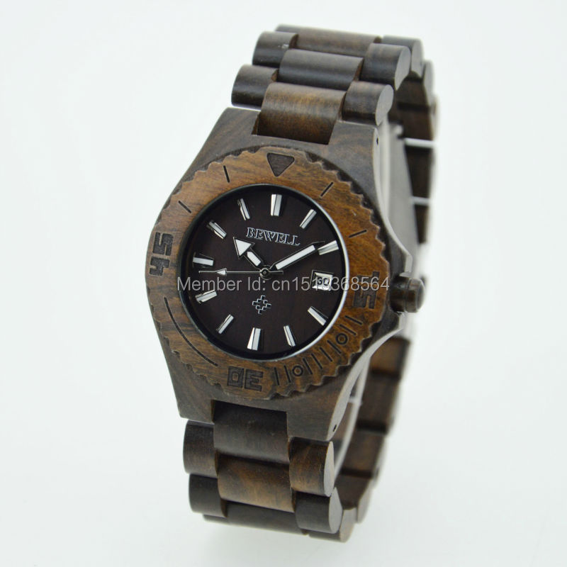 fashion unisex wood watches for calendar