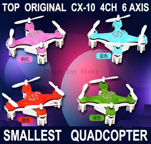 Best Price - CX-10 The World Smallest Drone Remote Control RC Mini Quadcopter Quad copter Helicopter Ar.drone Quadrocopter CX 10(China (Mainland))