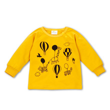 Spring autumn baby boys girls candy color t shirt  cartoon long sleeve coat children's clothes newborn infant tops sweatshirt