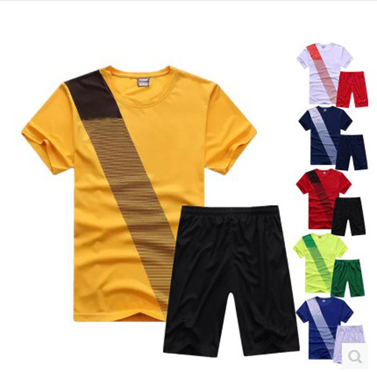 Professional Football Soccer Jersey Male Short Sleeve Clothing Competition Training Shirt plain soccer suit(China (Mainland))