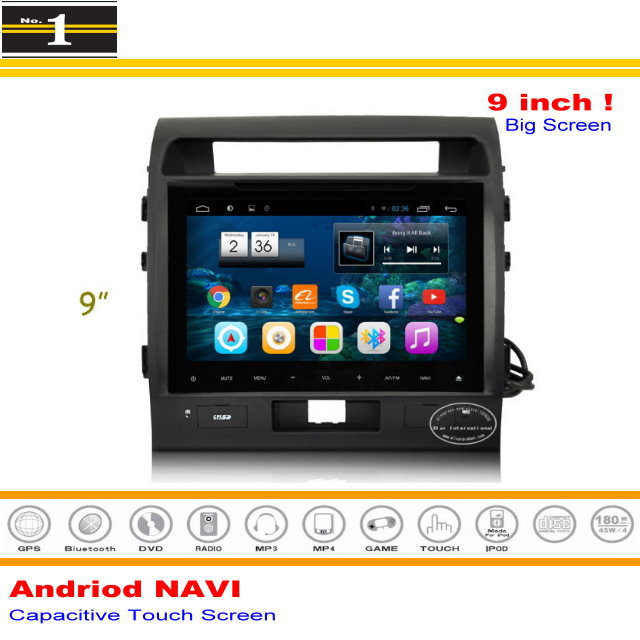 "For Toyota Land Cruiser 200 / LC 200 2010~2015 - Android Nav System / 9"" HD 1024P Capacitive Screen Multimedia Central Control(China (Mainland))"