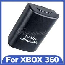2015 heißer verkauf neueste schwarzen 4800 mah ni-mh usb akku für xbox 360 wireless controller konsole großhandel preis(China (Mainland))