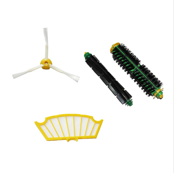 High quality Brush For iRobot Roomba 500 560 510 550 570 580 Bristle Brush Flexible Beater Brush and sidebrush free shipping(China (Mainland))