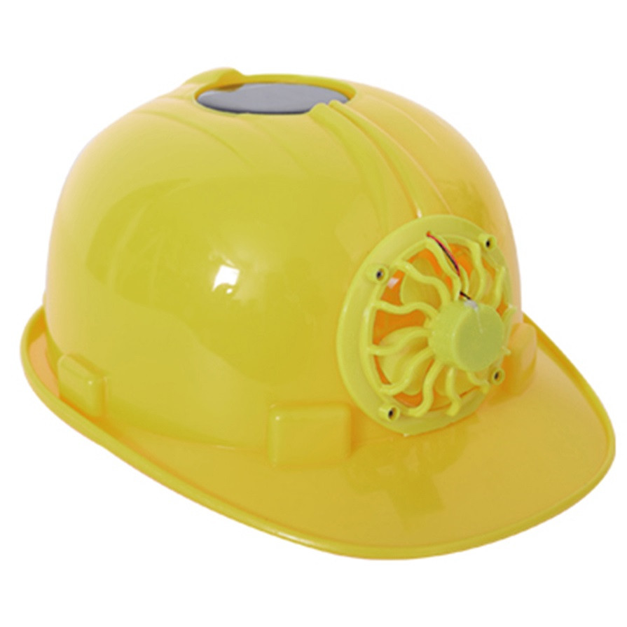 Classic Solar energy Safety Helmet Hard Ventilate Hat Cap Cooling Cool Fan Delightful Cheap And Hot Selling For Building Worker