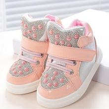 2016 new fashion Kids Children shoes Girls and Boys sport shoes Baby rhinestone sequins shoes Children