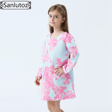 Buy Girls Dress Winter Flower Children Girls Clothing Brand Kids Clothes Princess Holiday Party Spring Wedding Baby Toddler for $12.26 in AliExpress store