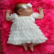 2015 Summer Newborn Baby Lace Dresses A-line Chiffon Dress For 0-2y Kids Clothing Dress White color Hot Sale