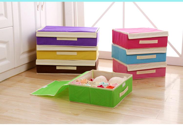 Hot Sale Folding Storage Box 10 Grid Home Storage Bins Clamshell Bubble Pattern for Bra Underwear Necktie Sock Organizer #A5-2(China (Mainland))