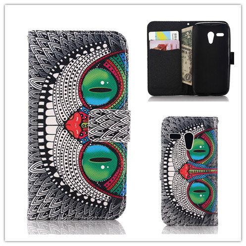 Luxury Flip Leather PU Case Motorola Moto G Stand Cover Back Cases wallet card holder - Koko Technology Co.,Ltd. store