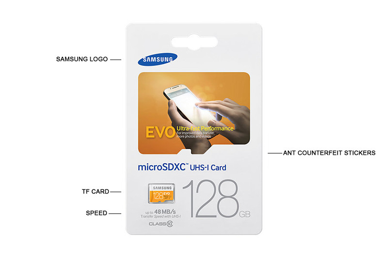 Samsung Micro SD Memory Card 128GB Class 10 Max 48mb/s SDXC Flash Phone TF Card Support Official Verification D12-L-11