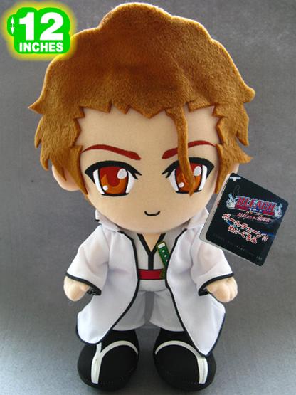 "30cm/12"" Aizen Sousuke Stuffed Toys Classic Japanese Anime Bleach Plush Toy Dolls Gifts Free Shipping(China (Mainland))"