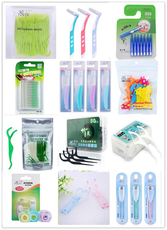 10x36pcs Kids' Thin Elasticity Dental Flosser Interdental Brush Children Teeth Stick Toothpicks Floss Pick Oral Hygiene cleaning