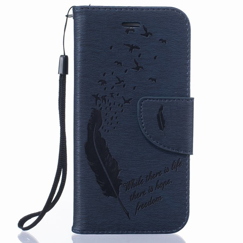 For Coque iPhone 6S Case Leather Wallet Flip Cover Stand Phone Cases For iPhone 6 Cover Feather Covers And Cases Card Holder