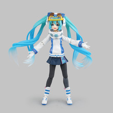 2016 New Arrival Hatsune Miku Snow Ver Sexy Japanese Anime Action Figures Boy PVC 14cm Kid Toys Animation Collection Brinquedos
