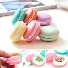 New Fashion Cute Sweet Macarons Storage Box Candy Color For Jewelry Earring Outing Boxes Living Essential IC875284(China (Mainland))