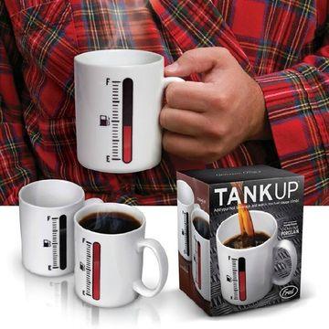 magic color changing mug thermometer ceramic coffee cup heat water mug cup(China (Mainland))