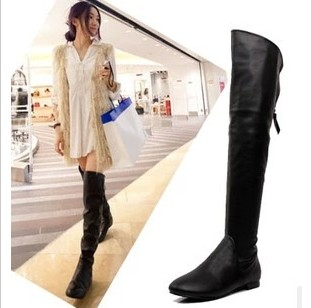 2013 winter cheap black leather flat the