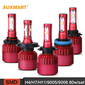 Auxmart H4 H7 H11 9005 9006 80W set 5D SMD LED Car Headlight Bulbs 6500K 9600LM