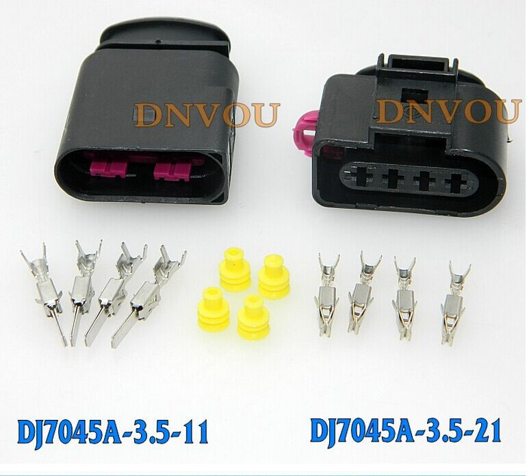 1set Ignition coil plug Golf high pressure pack Electrical Wire connector Plug(China (Mainland))