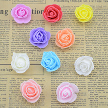artificial flowers DIY mini flower head fake PE foam material rose flower wreath with flowers decorat(China (Mainland))