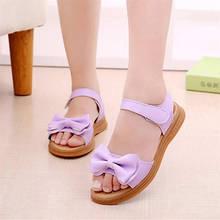 1-9 Yeas ילדים ילדי תינוקות בנות Bowknot החלקה סנדלי נסיכת נעלי פעוט אופנה סניקרס נעליים עבור בנות(China)