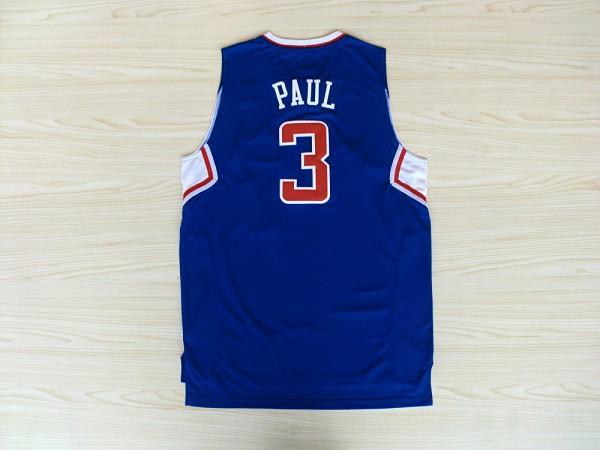 2015 #3 Chris Paul Jersey Red Blue White PRO New Chris Paul Shirt Stitched Best Quality Chris Paul Jerseys Shop BSK288(China (Mainland))