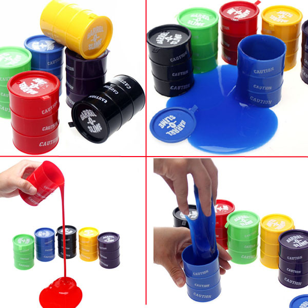 Free Shipping 24Pieces/set Trick paint/ Spilled Paint Pot Barrel Slime / funny trick toy(China (Mainland))