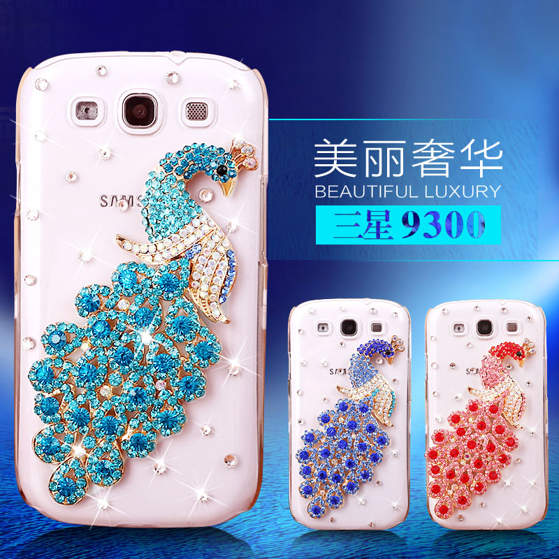 MANDERM luxury diamond women case cover For samsung galaxy s3 neo phone case gt-i9300i protective cases cell phones rhinestone(China (Mainland))