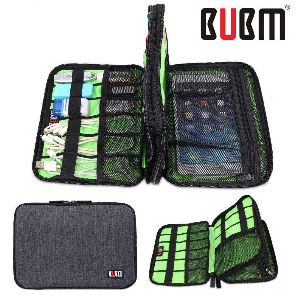 Hot Waterproof Double Layer BUBM Travel Wire Storage Bag Electronic Accessories Tool Pouch Organizer Hard Drive Pen Data Cable(China (Mainland))