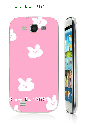 Mobile Phone Case Retail 1pc pink Protective White Hard Back Case For samsung galaxy s3 i9300 Free Shipping(China (Mainland))