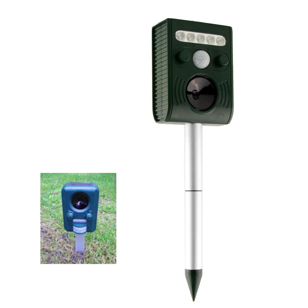 Sonic Ultrasonic Solar Power Animal Repeller Repellent Yard Rats Motion Activated Sensor Flashlight(China (Mainland))