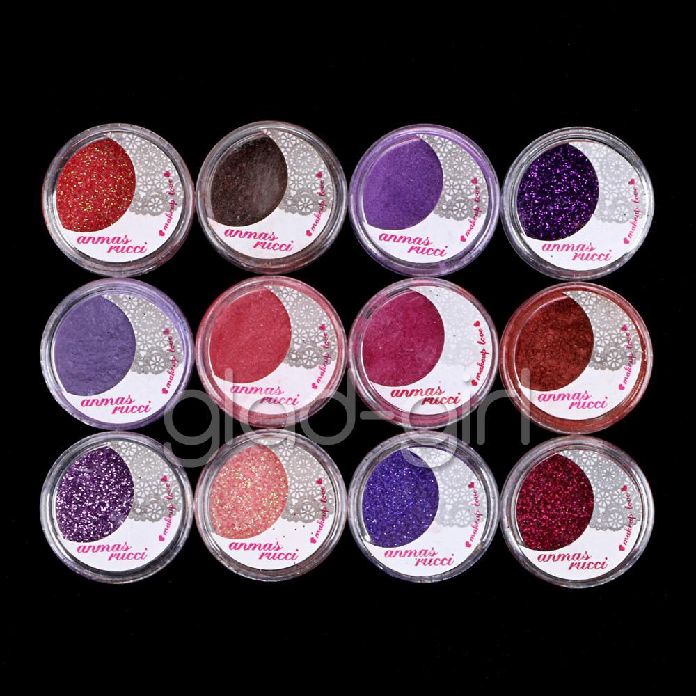 12 Color Powder Glitter Sheet Eyeshadow Cosmetic Eye Shadow Makeup Set#3