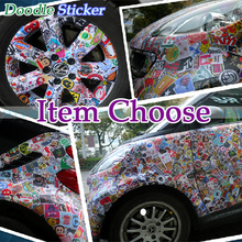 Car Styling stickers Doodle Waterproof Car Bicycle luggage laptop mobile guitar skateboard motorcycle wall Decals Car-Styling(China (Mainland))