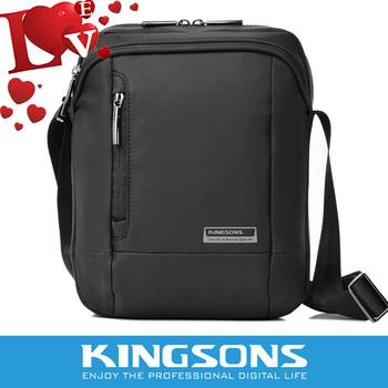 "Free shipping 2015 Kingsons  nylon messenger bag high quality waterproof men   messenger bags sleeve for ipad  9.7"""