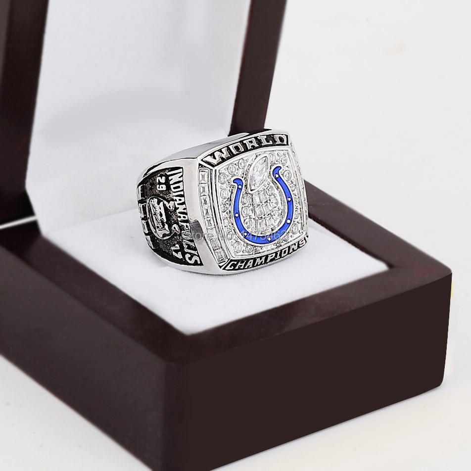 SPORTS RINGS REPLICA 2006 NDIANAPOLIS COLTS SUPER BOWL XLI Football World Championship Ring Copper rings with wooden box as gift<br><br>Aliexpress