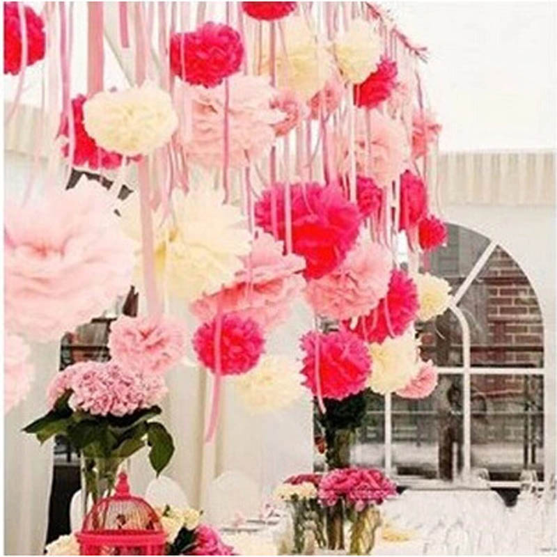 Diy hanging flower ball craftbnb aliexpress buy 6inch pompom tissue ball artificial tissue junglespirit Image collections