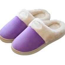 Vendita calda all'ingrosso autunno inverno donna uomo pantofole a casa soft comfort scarpe calde amanti cotone fluff uomini donne scarpe al coperto(China (Mainland))