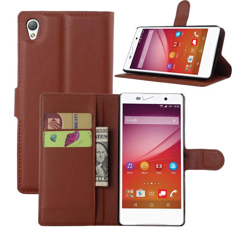 """Colorful Style Flip PU Leather Case For Sony Xperia Z4v Verizon 5.2"""" cell phone protector bags cover stand card holder 9 color(China (Mainland))"""