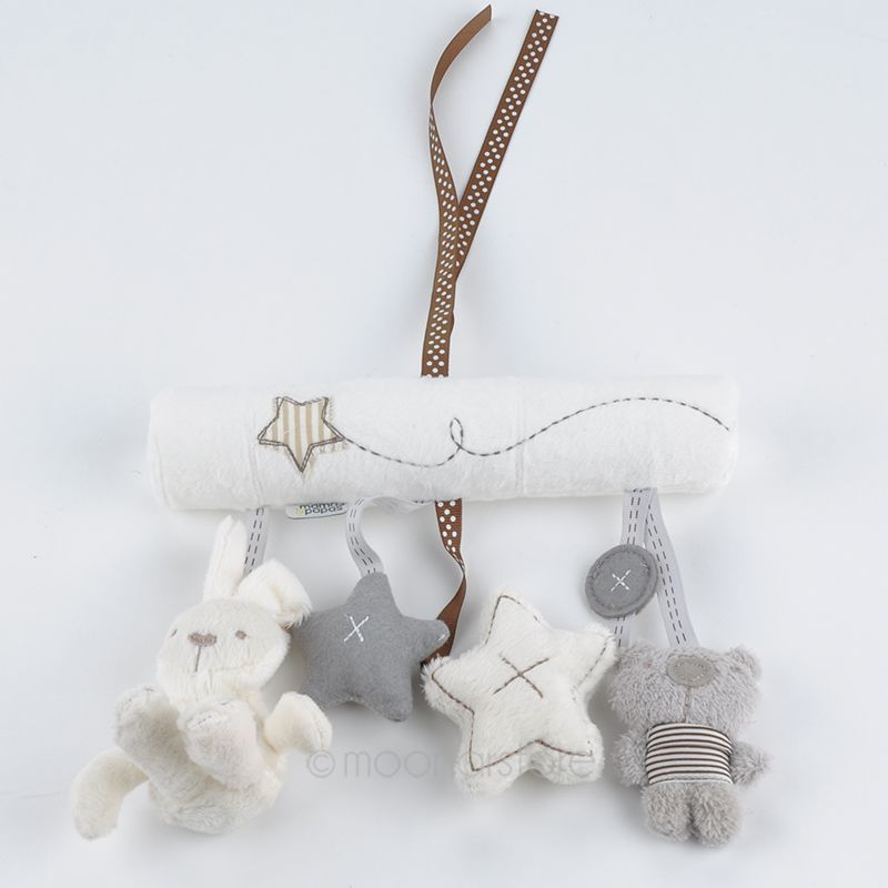 Baby Toys Cute Rabbit Bunny Music Hanging Toy for Stroller Bed Plush Tape Baby Hang Music Toys Y*MHM779#S7(China (Mainland))