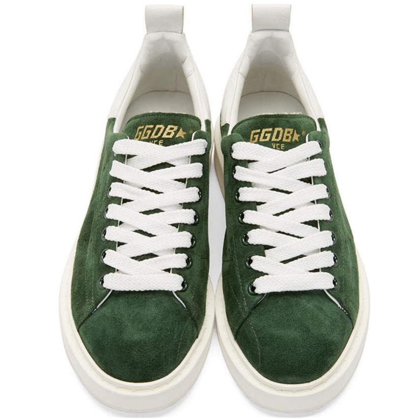 2016 Italy Brand Green Golden Goose Superstar Casual Shoes Worn Men Women Low Cut Fashion GGDB Shoes ORIGINAL Scarpe Donna Uomo hogan scarpe uomo