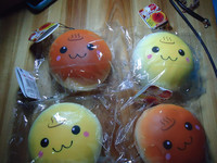 15pcs/lots 10cm cute face bread bun squishy with tag