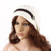 2000 pcs a lot  Winter New Women Lady Fashion Warm Winter Beret Braided Baggy Beanie Hat Ski Cap(China (Mainland))