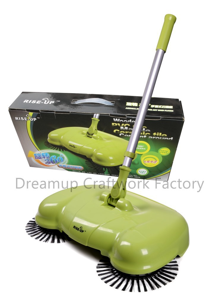 latest smart none electric vacuum cleaner broom besmirchers dustpan set automatic sweeping manual brush floor sweepe(China (Mainland))