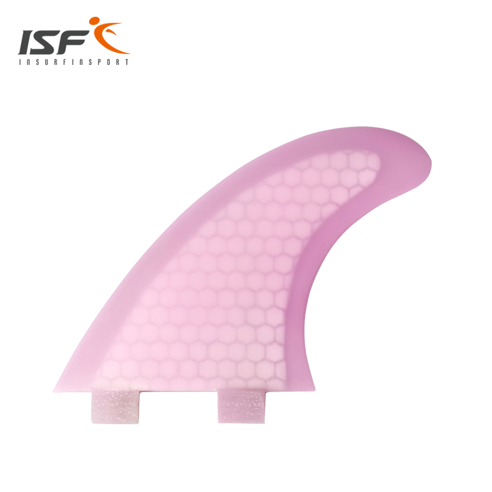 cheap sale Surfboard Fins Fin Set (3) FCS Compatible Medium Customized Pink Fiberglass Surf Fin M5(China (Mainland))